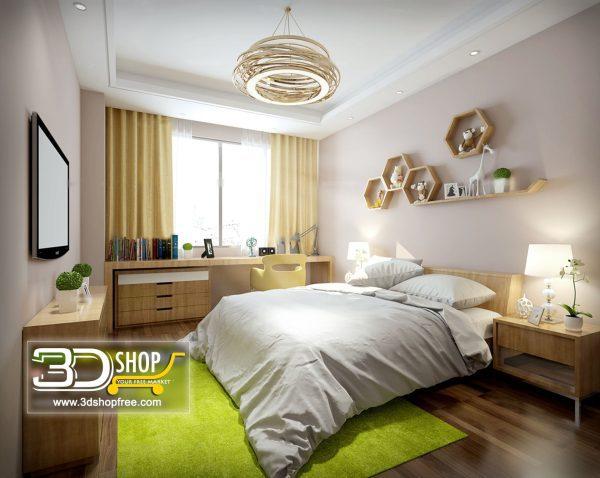 041 Bedroom 3d Max Interior Scene