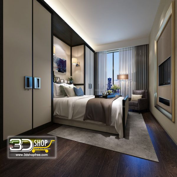 044 Bedroom 3d Max Interior Scene
