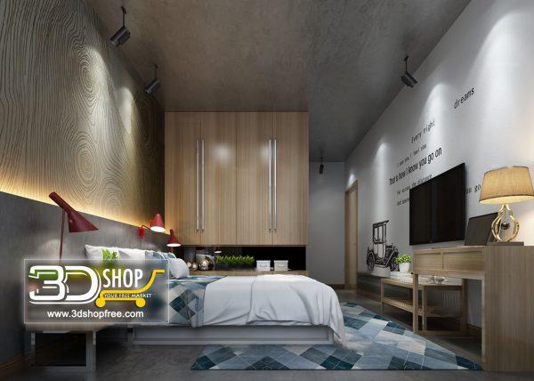 Bedroom 3d Max Interior Scene 045