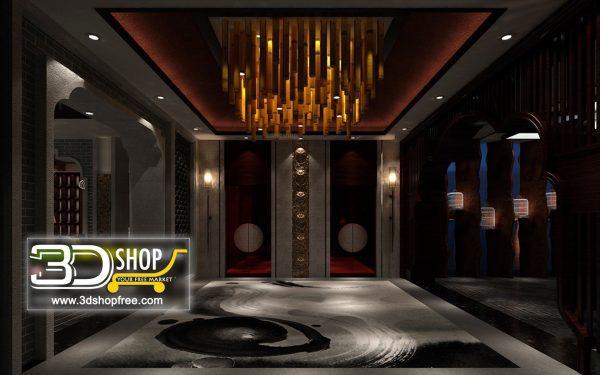 045 Elevator Lobby 3d Max Interior Scene