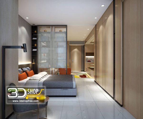 046 Bedroom 3d Max Interior Scene