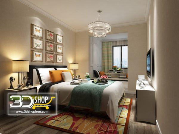 049 Bedroom 3d Max Interior Scene