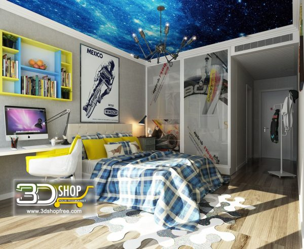 050 Bedroom 3d Max Interior Scene