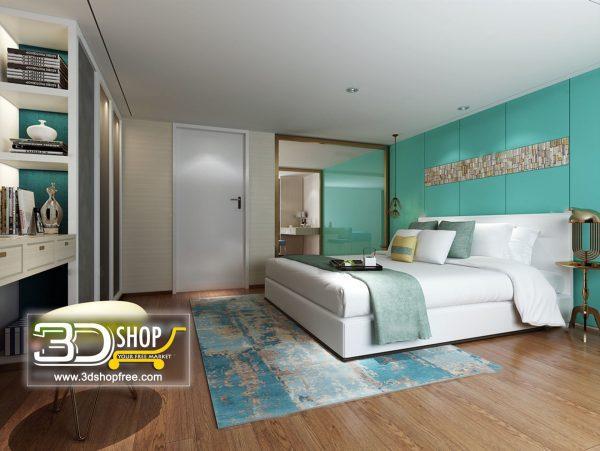 051 Bedroom 3d Max Interior Scene