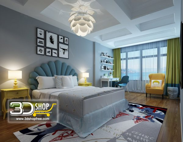 052 Bedroom 3d Max Interior Scene