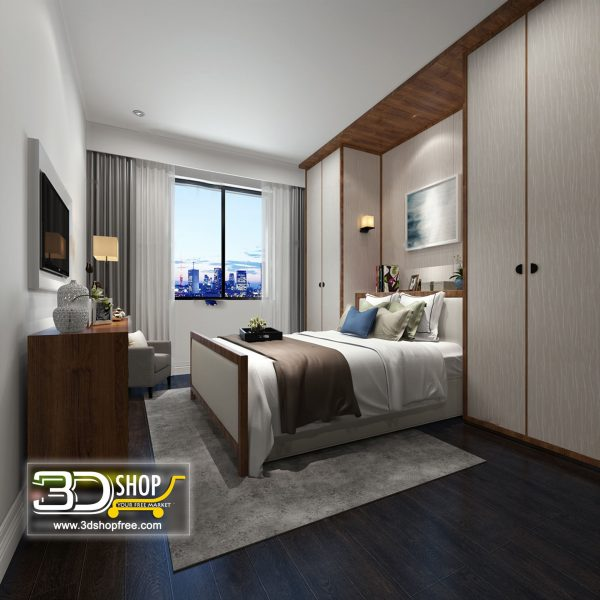 054 Bedroom 3d Max Interior Scene