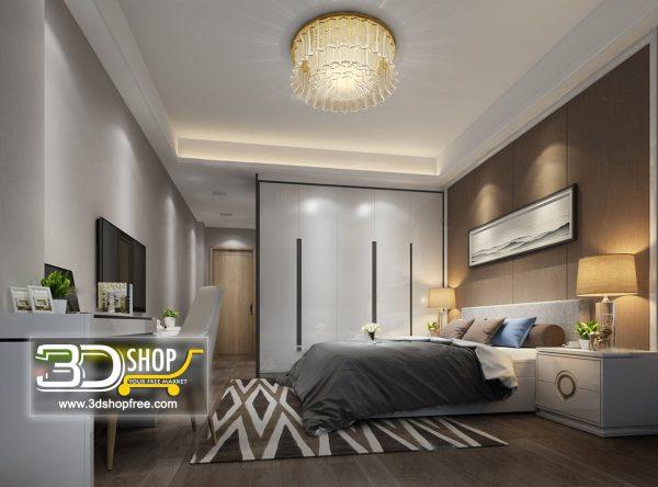 055 Bedroom 3d Max Interior Scene