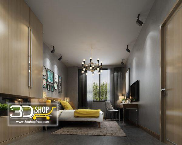 056 Bedroom 3d Max Interior Scene