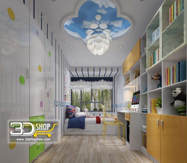 Bedroom 3d Max Interior Scene 059