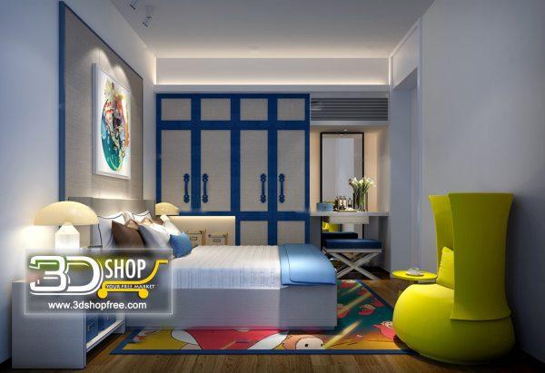 060 Bedroom 3d Max Interior Scene