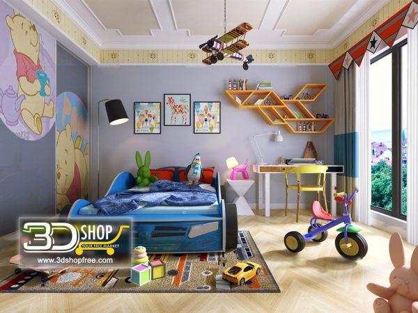 061 Bedroom 3d Max Interior Scene