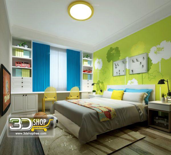 062 Bedroom 3d Max Interior Scene