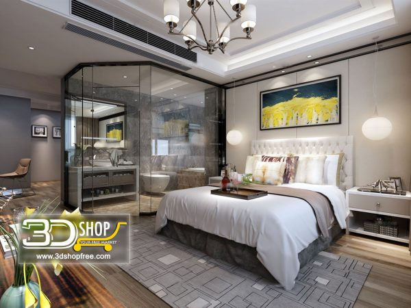 064 Bedroom 3d Max Interior Scene
