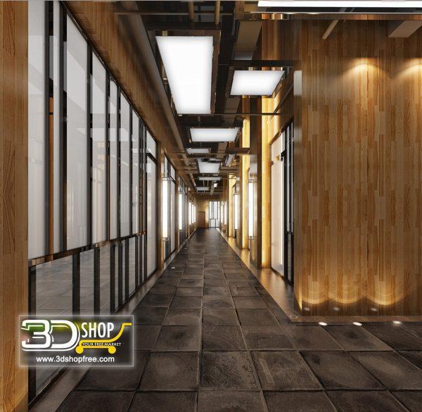 076 Corridor 3d Max Interior Scene