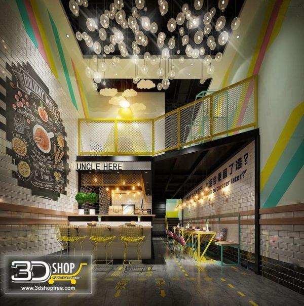 Cafe Interior Scene 056