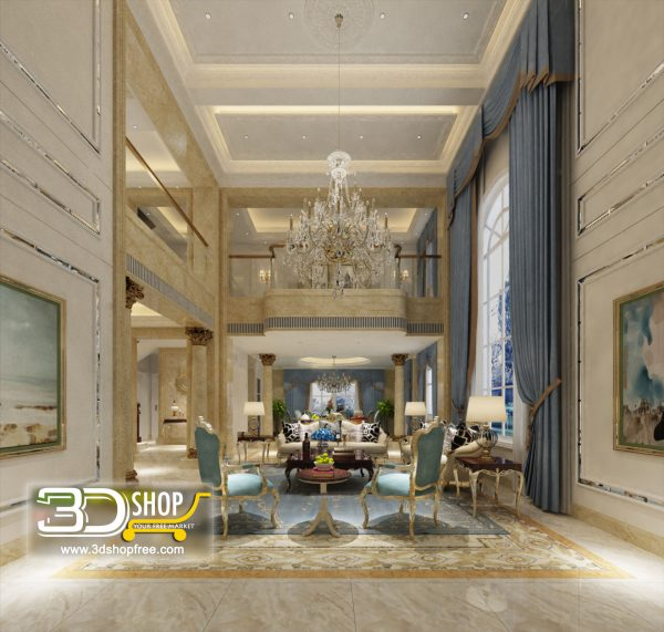 Living Room 3d Max Interior Scene 277