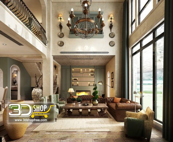 Living Room 3d Max Interior Scene 297