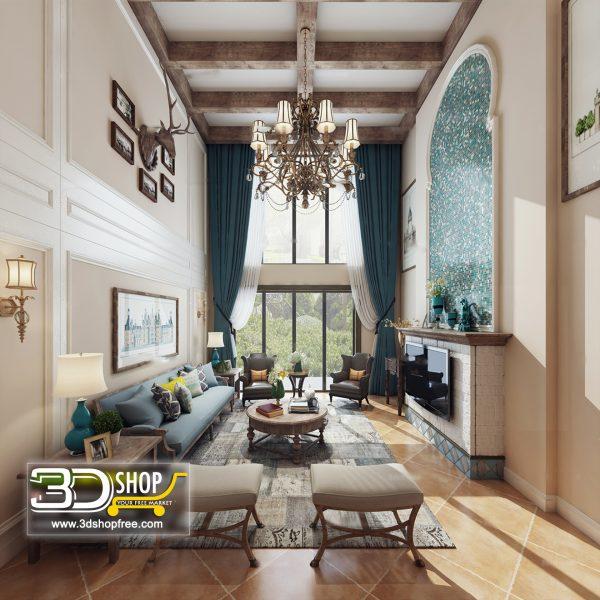 Living Room 3d Max Interior Scene 313