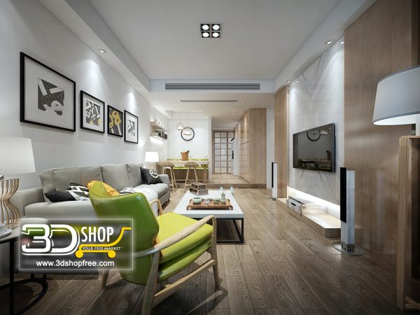 Living Room 3d Max Interior Scene 420