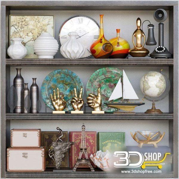 Decorative Items 3d Models 086