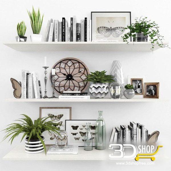 Decorative Shelves 3d Models 080