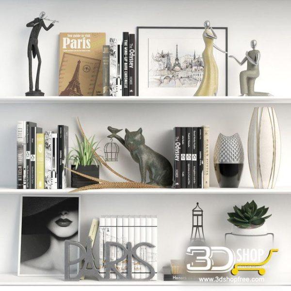 Decorative Shelves 3d Models 089