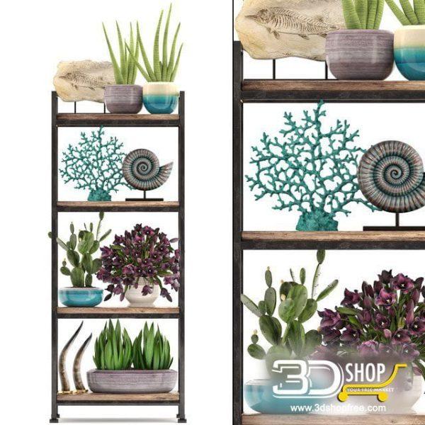 Decorative Shelves 3d Models 092