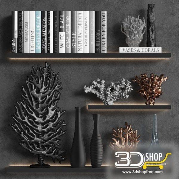 Decorative Shelves Corona & VRay 061