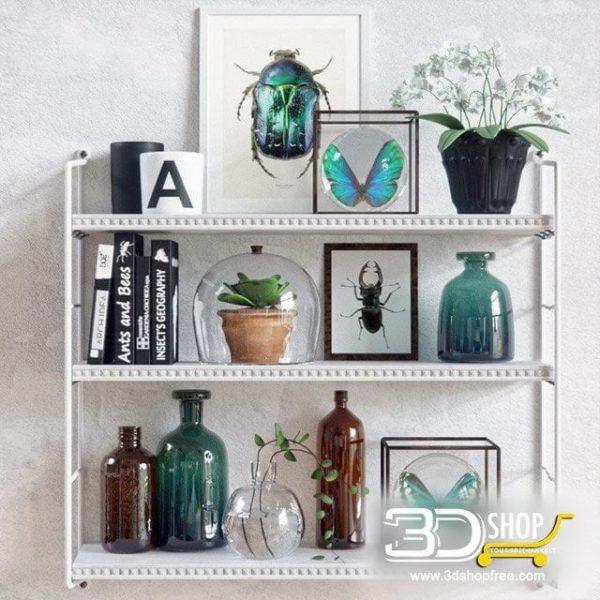 Decorative Shelves Corona & VRay 071