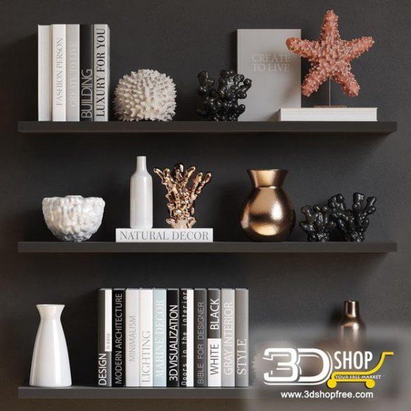 Decorative Shelves Corona & VRay 072
