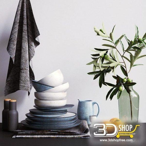 Dinner Decorative Items 3d Models 093