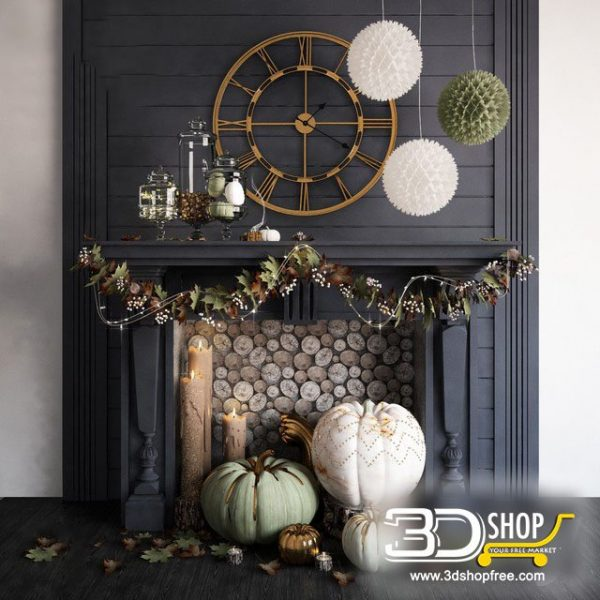 Fireplace Decor 3d Models 050