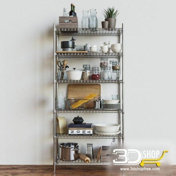 Kitchen Decorative Shelves 3d Models 076