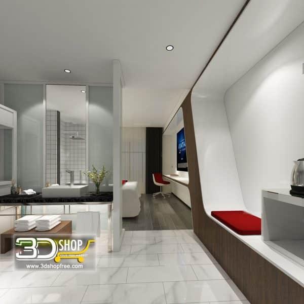 Modern Hotel Suite 076