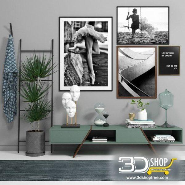 Wall Decorative Items 3d Models 067