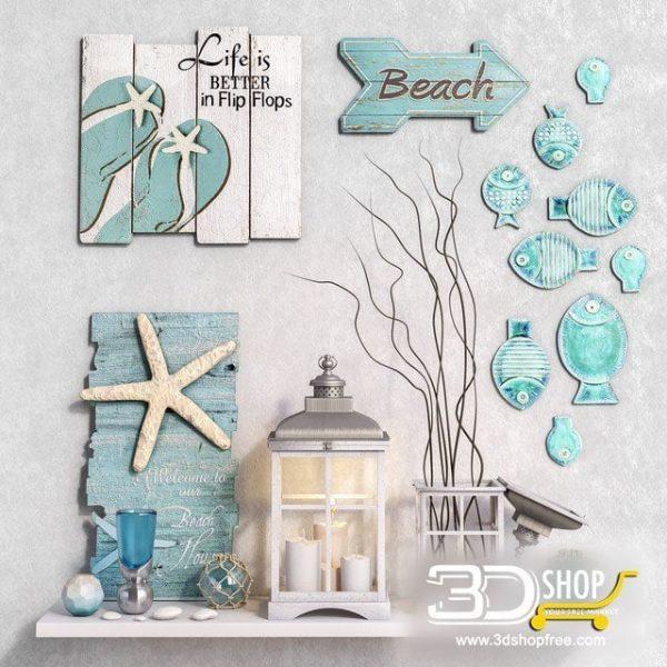 Wall Decorative Items Corona & VRay 062