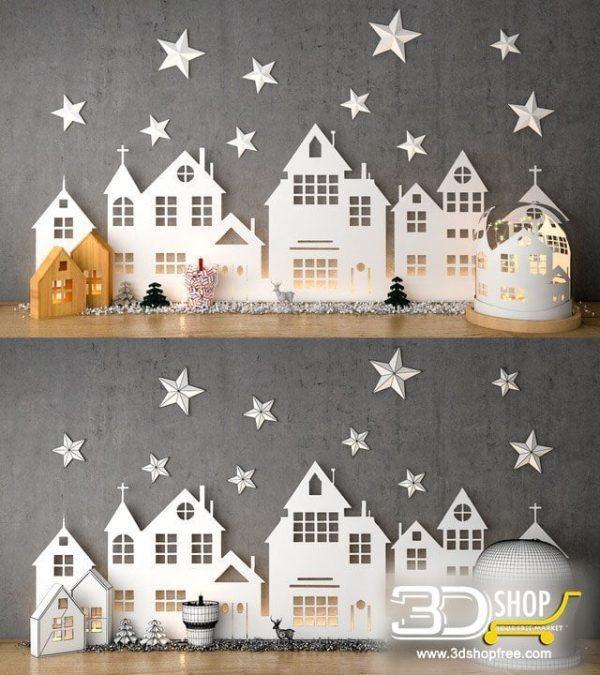 X-Mas Decorative Items 3d Models 079