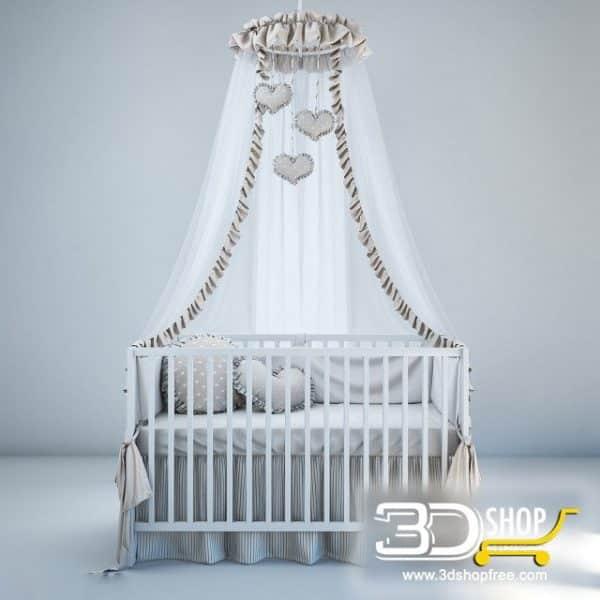 Kids Bed 3D Model 013