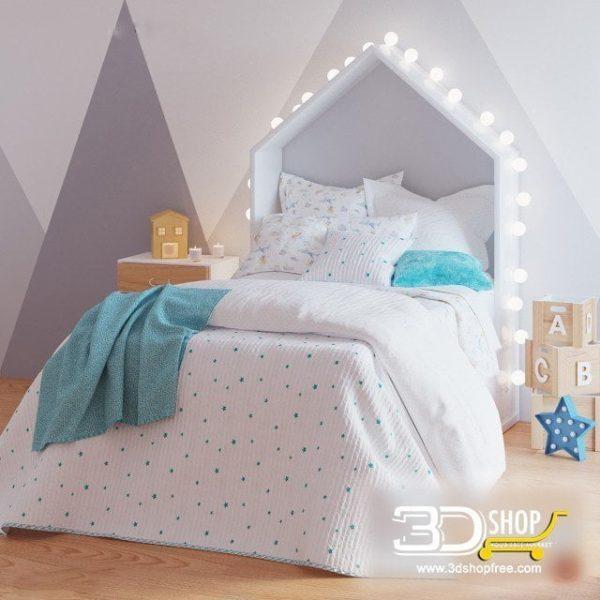 Kids Bed 3D Model 024