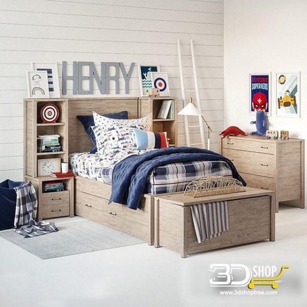Kids Bed 3D Model 028
