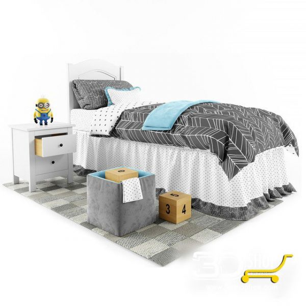 Kids Bed 3D Model 030