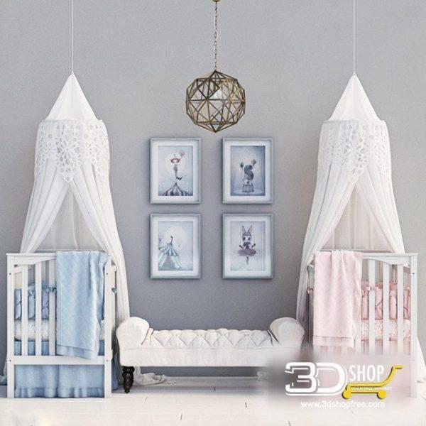 Kids Bed 3D Model 034