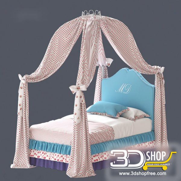 Kids Bed 3D Model 039