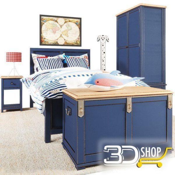Kids Bed 3D Model 045