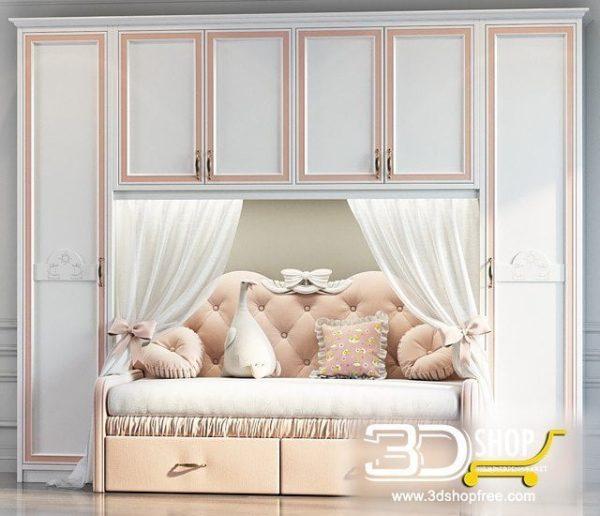 Kids Bed 3D Model 047
