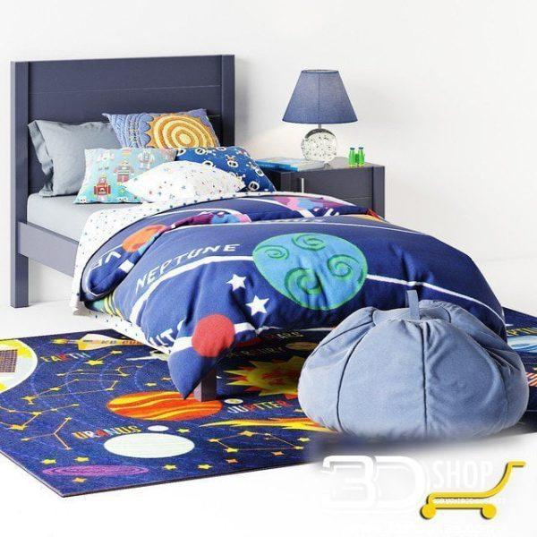 Kids Bed 3D Model 049