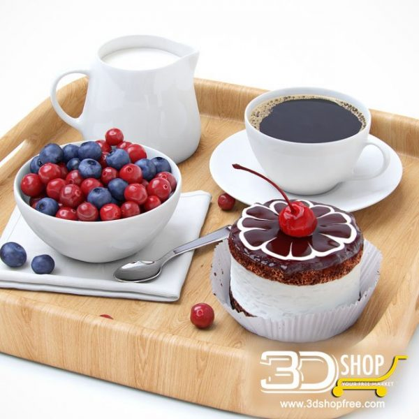 Cake & Coffee 3d Models 012
