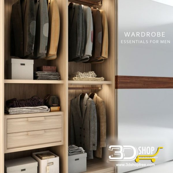 Clothes Wardrobe 3D Model 427