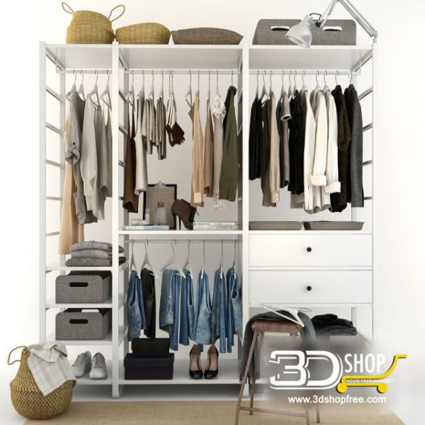 Clothes Wardrobe 3D Model 428