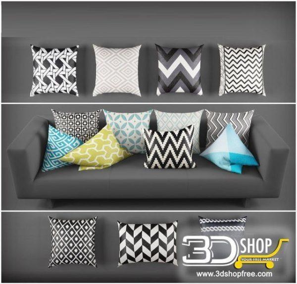 Cushions 3d Model 160